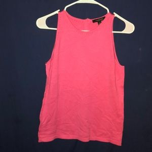 Ann Taylor hot pink high neck tank top NWT